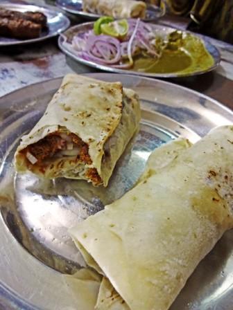 Beef Kebab Rolls  Photo : Hoda Bandeh-Ahmadi